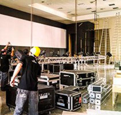 Locação de equipamentos audiovisual